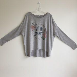 PJ Salvage Intimates & Sleepwear - P.J. Salvage grey wild spirit oversized top sz L